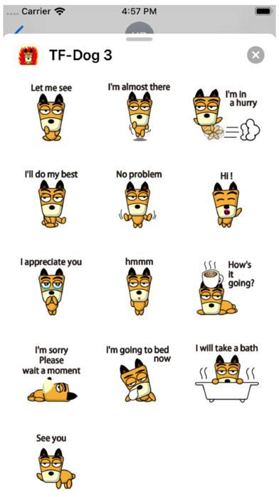 TF-Dog 3 Stickers Screenshot
