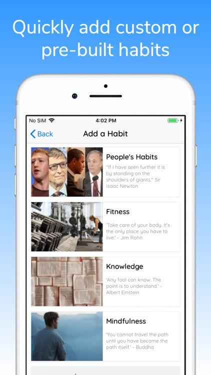 Build Habits Goal Tracking App