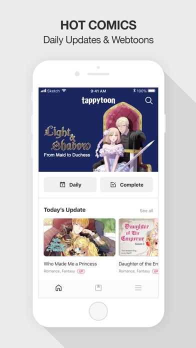 Screenshot for Tappytoon Comics & Webtoons in United States App Store