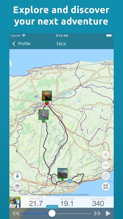 Map My Tracks: cycling tracker screenshot-4