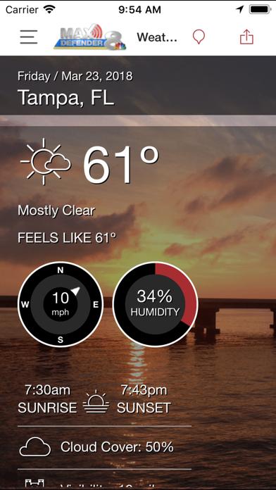 App Shopper: Max Defender 8 Weather App (Weather)