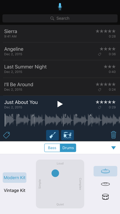 Music Memos Screenshot