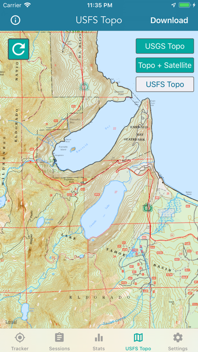 Topographic Maps & Trails Screenshot