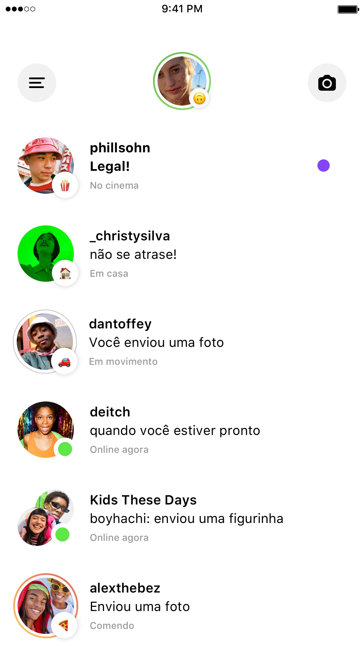 Screenshot do app Threads do Instagram