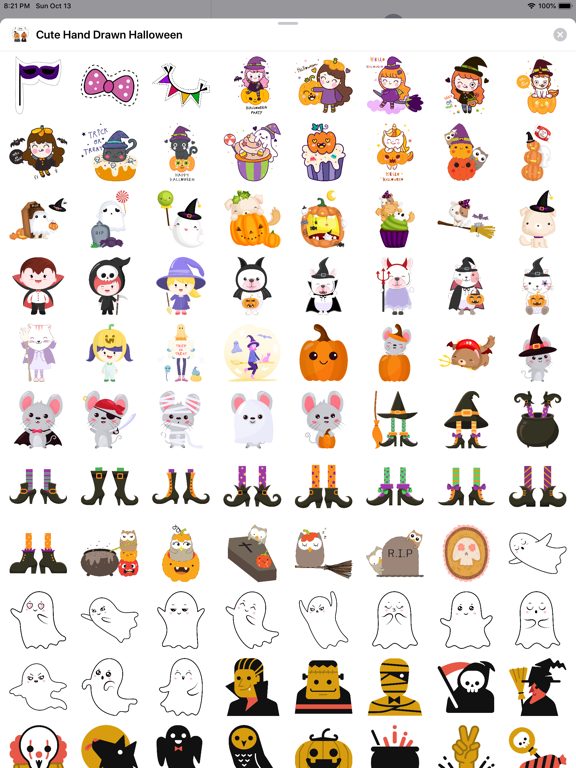 260+ Cute Hand Drawn Halloween screenshot 10
