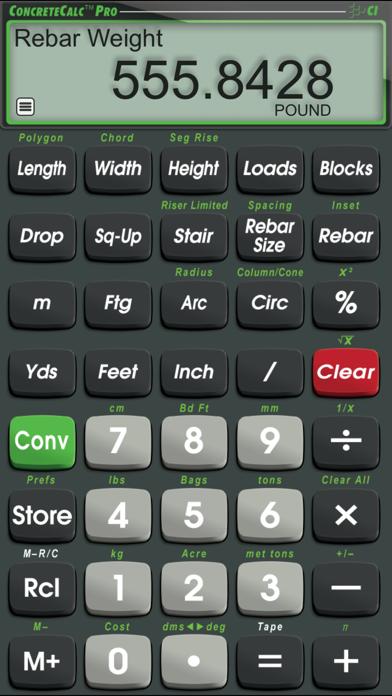 Concretecalc Pro review screenshots