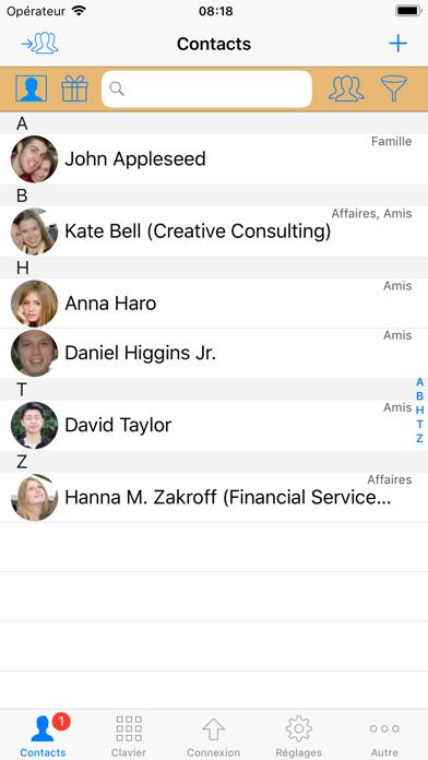 Screenshot #1 pour ContactsPro X