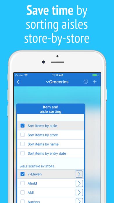 IntelliList - Shopping List Screenshot
