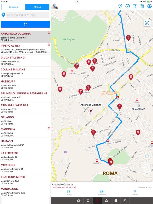 Cartina Michelin Roma.Viamichelin Gps Itinerari Su App Store