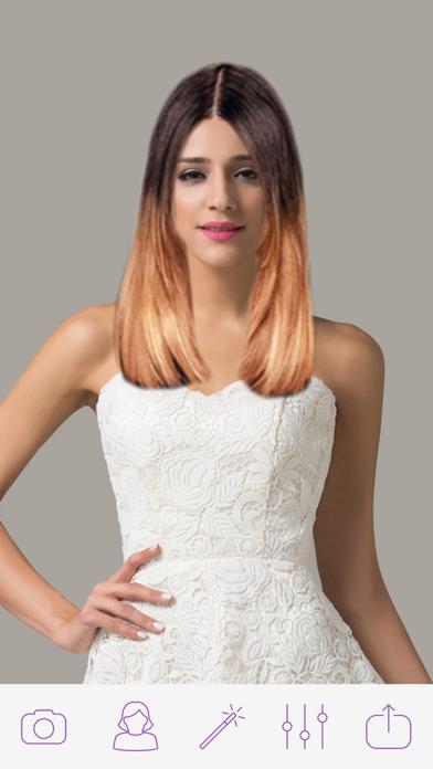 Women Hair Changer Photo Pro screenshot one