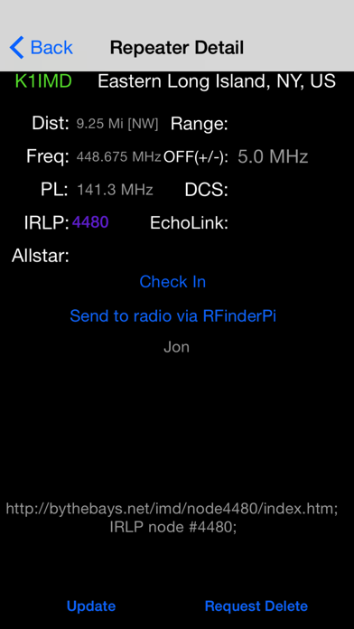 点击获取RFinder WW Repeater Directory