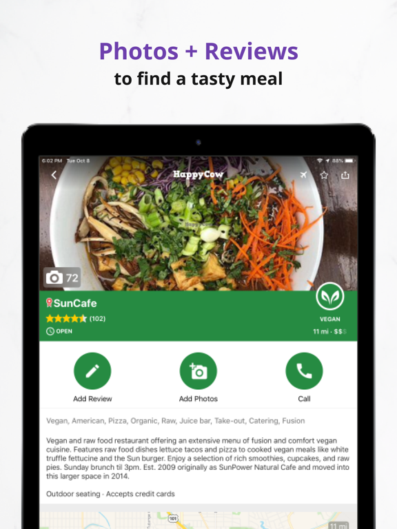 Veg Travel Guide for Vegan & Vegetarians by HappyCow screenshot