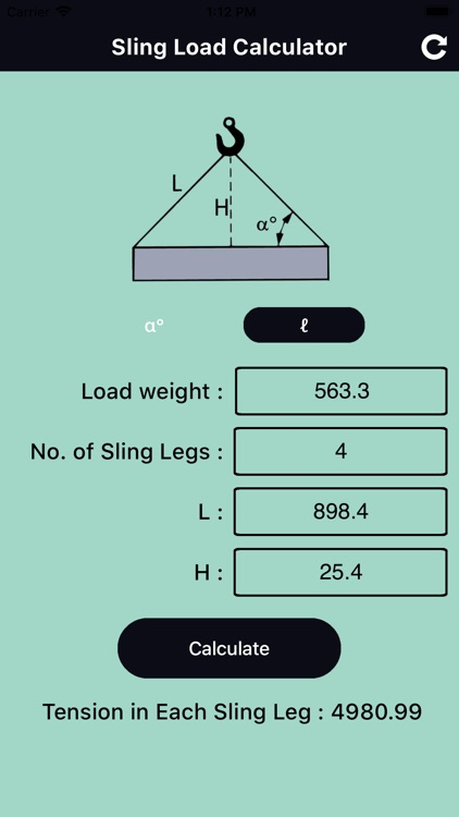 Sling Load Calculator Pro by ankit gabani