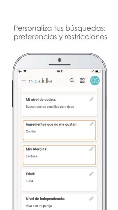 Screenshot for Nooddle: Come sano, fácilmente in Netherlands App Store