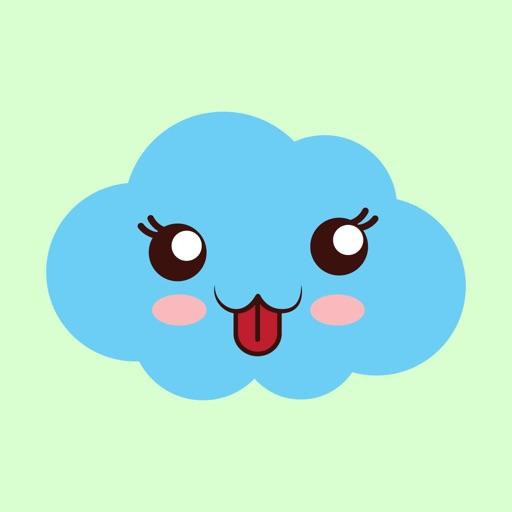 cloudy blue emoji 2019