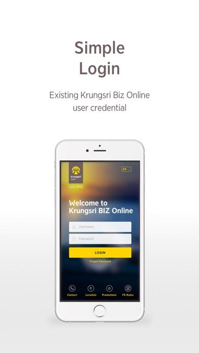 Krungsri Biz Online screenshot one