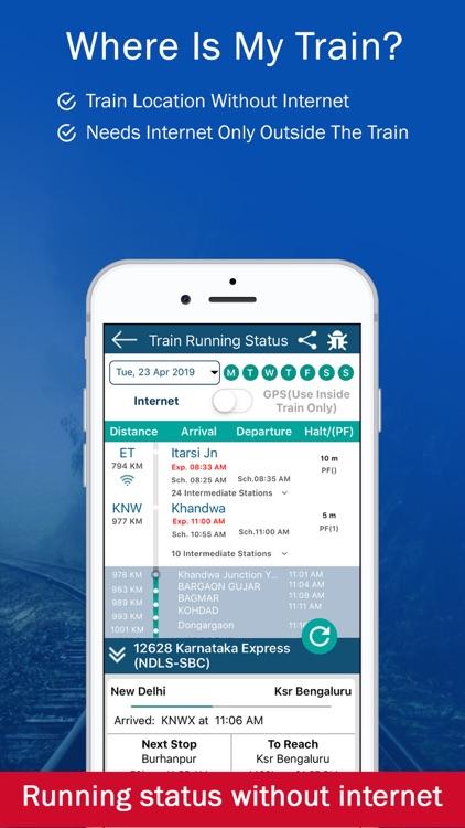 PNR, Live Train Status & Metro