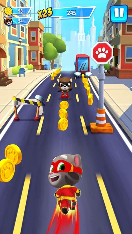 Talking Tom Hero Dash Run Game screenshot-0