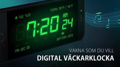 Digital väckarklocka & musik på PC
