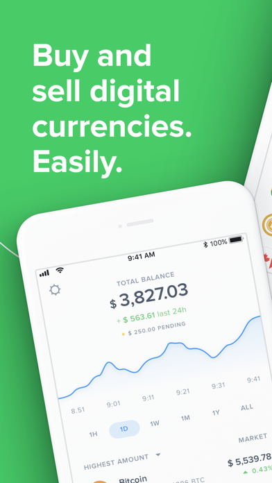 Uphold: buy and sell Bitcoin screenshot one