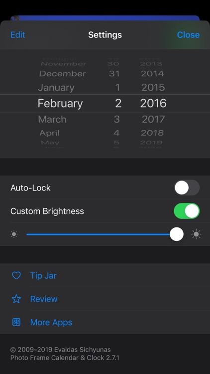 Photo Frame Calendar & Clock screenshot-8