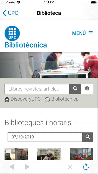 UPC screenshot three