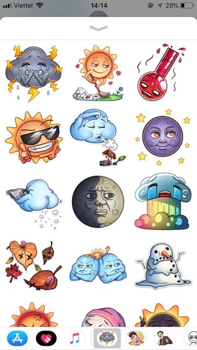 Weather Emoji Funny Stickers screenshot 1