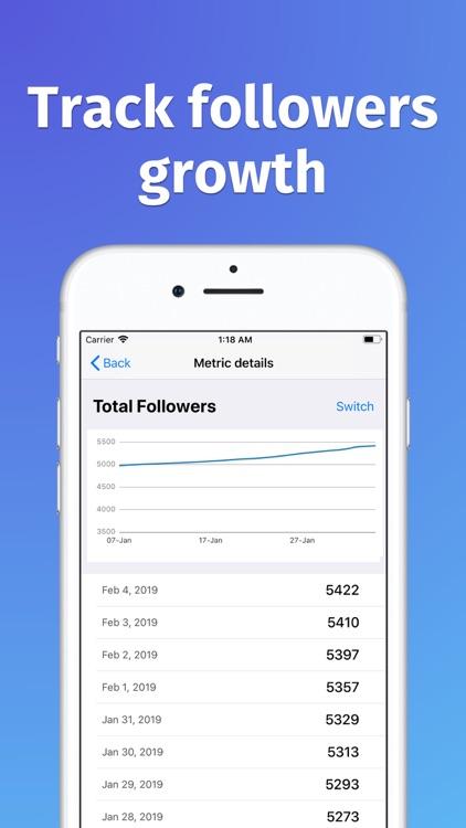 Analytics for Instagram Sova screenshot-4