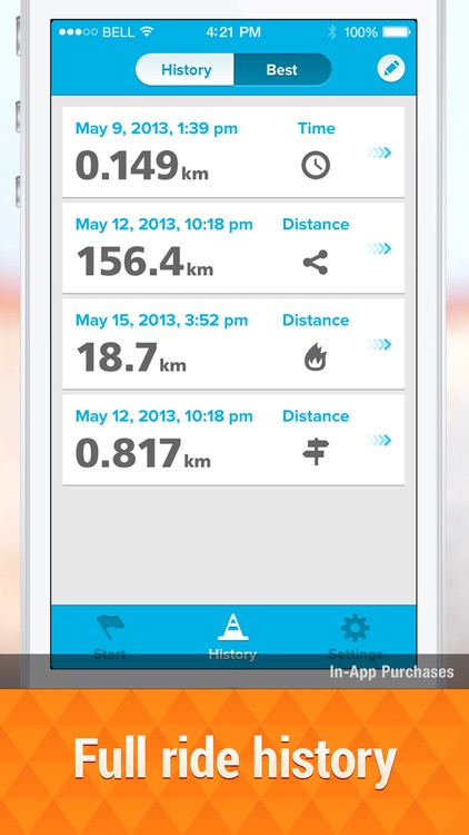 Bicycle ride tracker: bike map screenshot-3