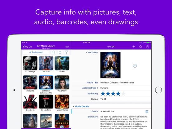 Tap Forms Organizer 5 Database Screenshots