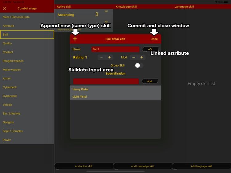 SR5 Runner sheet screenshot-3