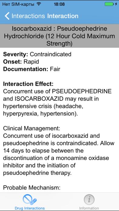 IBM Micromedex Drug Int. Screenshot