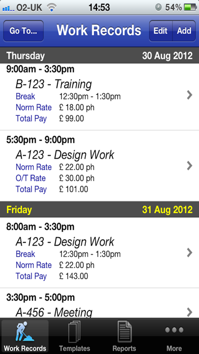 Pay Diary Pro screenshot one