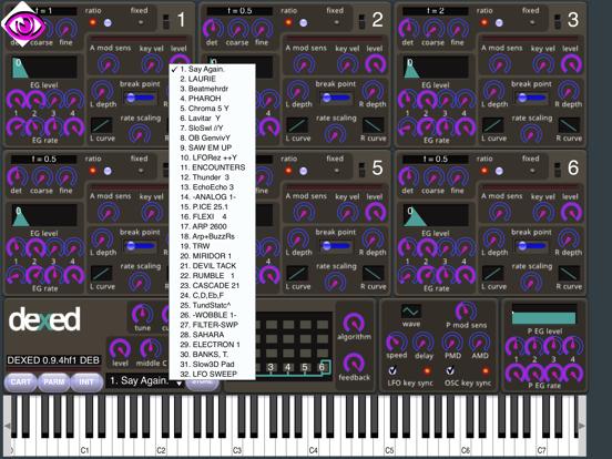 iOS Musician Apps: Dexed Synth