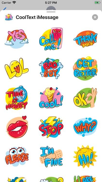 Cool Text Stickers screenshot-3