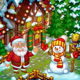 New Year Farm of Santa Claus