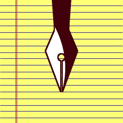 Paper notes handwritten memo