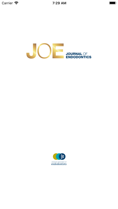JOE: Journal of Endodontics Screenshot