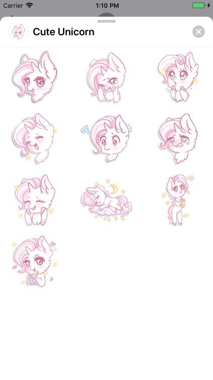 Cute Unicorn Sticker Pack