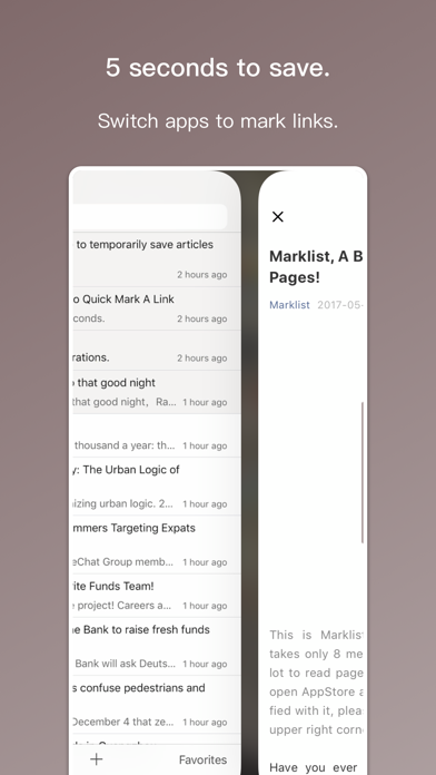 Marklist - Manage Later Things Screenshots