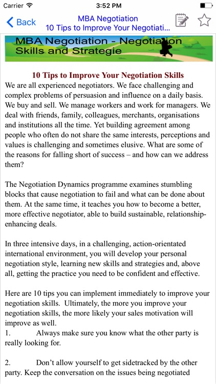 MBA Negotiation -