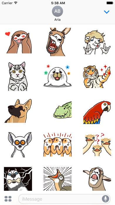 Animated Funny Animals Sticker screenshot 2