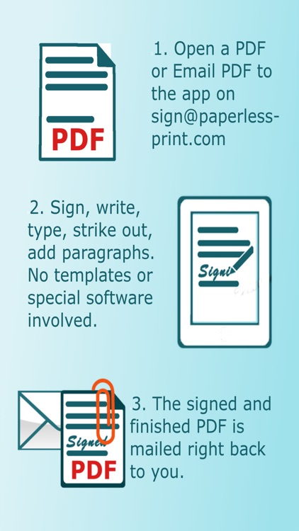 Paperless Print and Sign
