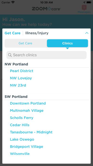 ZOOM+Care screenshot two