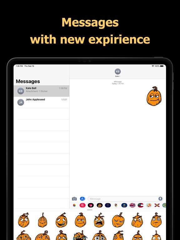 Halloween Mem emoji - pumpkin screenshot 8