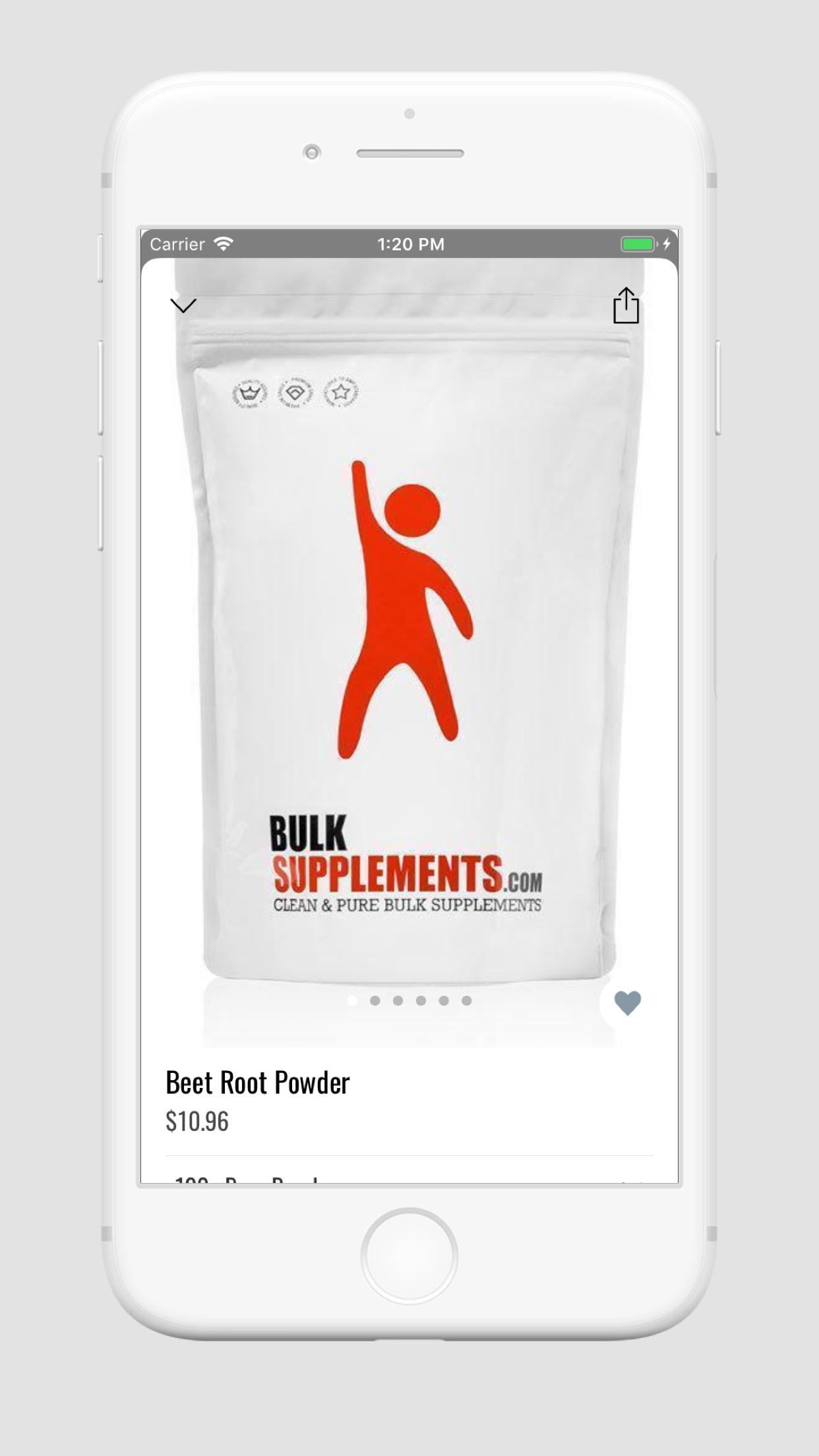 Bulk Supplements: Vitamin Shop Screenshot