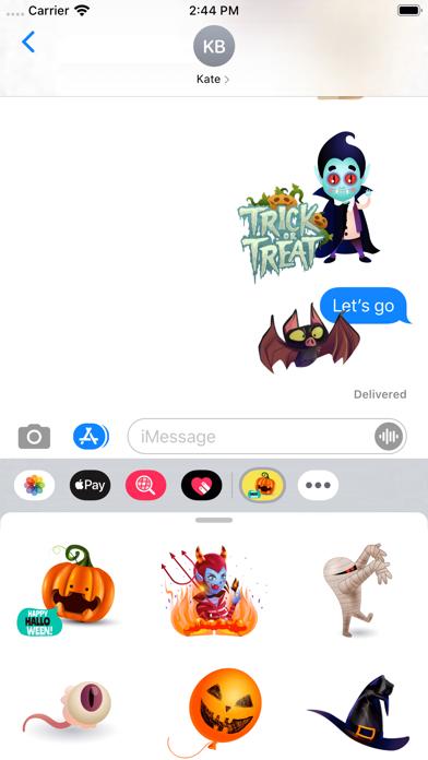 Creepy Halloween Stickers screenshot 2
