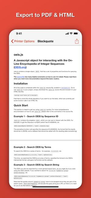 Blockquote Markdown Editor im App Store