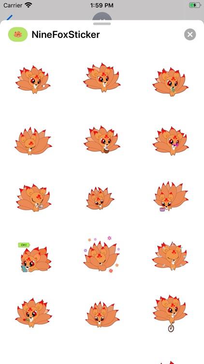 Nine Tailed Fox Stickers screenshot-3