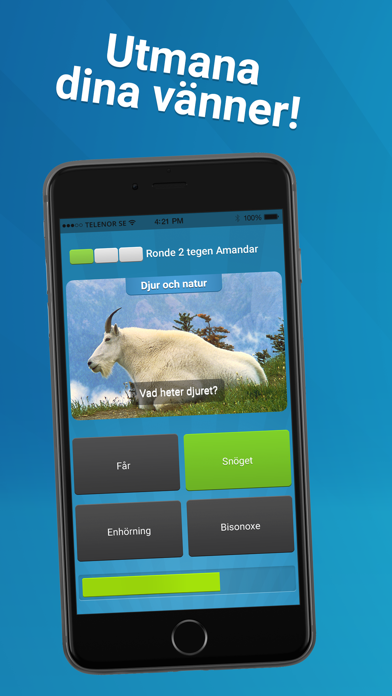 Screenshot for Quizkampen! in Sweden App Store